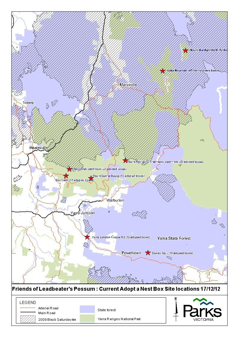 Overview map or Project Possum