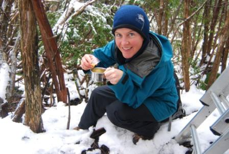 Volunteer preparing nectar feed for Leadbeater's Possum