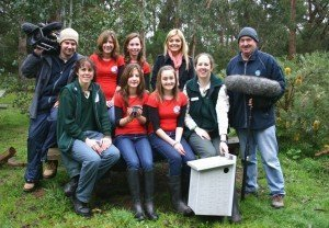 HELP team at Healesville Sanctuary during filming of Totally Wild