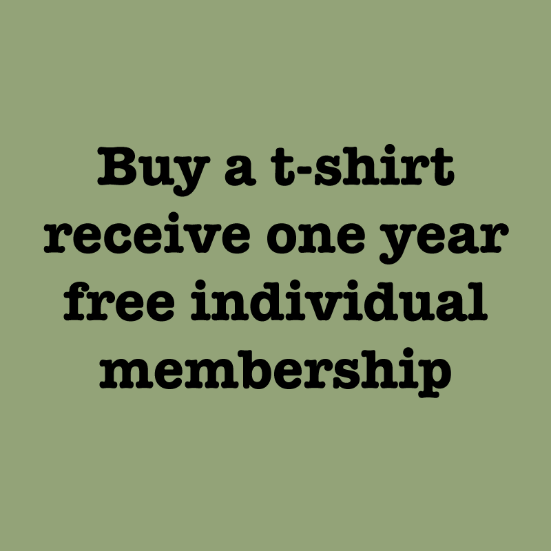 Buy a T-shirt, Get a Year's Membership